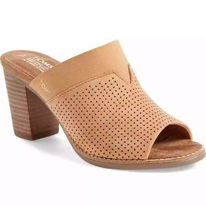 Toms Majorca Mule Women's Nubuck Perforated 8.5